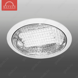Светильник люминесцентный встраиваемый R-236 прозрачное стекло 36W d295*H65 (d260) 3500К (A-08-L) RG-4