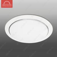 Светильник люминесцентный встраиваемый R-213 матовое стекло 13W d188*H50 (d160) 6400К (A-01-R) (D-10-R)