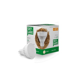Светодиодная лампа SkyLark 5Вт 12V GU 5.3 2700K