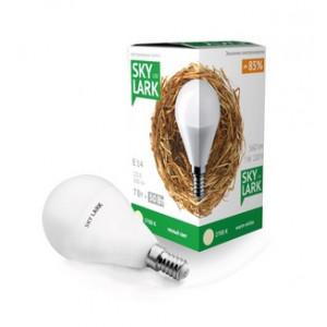 Светодиодная лампа шарик Р-45 7Вт Е14 220V 2700К Теплый свет