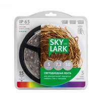 Лента светодиодная SkyLark RGB, 12VDC, IP65, 5 м С КОНТРОЛЛЕРОМ ПЫЛЕВЛАГОЗАЩИЩЕННАЯ
