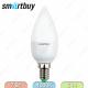 Светодиодная (LED) лампа Свеча матовая Smartbuy-C37 7W 4000K E14 470Lm