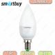 Светодиодная (Диммер) Лампа Smartbuy C37 7W 3000K E14 470Лм