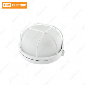 Светильник НПБ1302 белый/круг с реш. 60Вт IP54 TDM