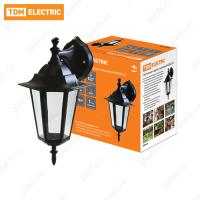 Светильник 6060-02 садово-парковый шестигранник, 60Вт, вниз, черный TDM