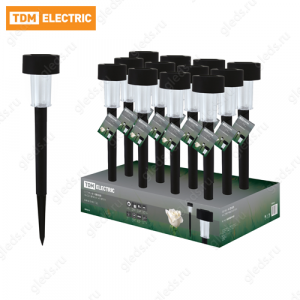 Светильник СП-325 на солнечных батареях, пластик, 4,7х32см, ДБ, TDM