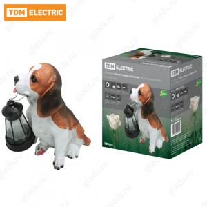 "Светильник ПП-094 ""Собака с фонарем"", на солнечных батареях, 24x14x25 см, TDM"