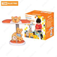 Светильник Мышка настол/часы 220В, 11Вт, G23, оранжевый TDM