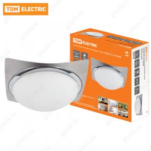 Светильник потолочный Квадрат хром 2х60Вт E27 IP 44 СП 02 TDM