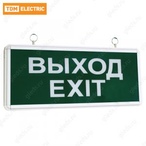 Светильник аварийный эвакуационный светодиодный ССА1-01, 1,5 ч., одностор., ВЫХОД-EXIT TDM