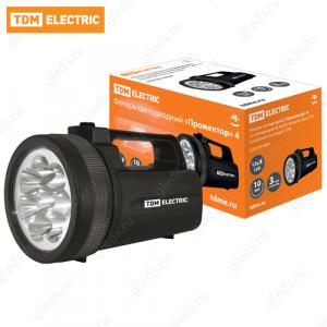 """Фонарь """"Прожектор"""", светодиодный, 12 светодиодов 36 лм/Вт, батареи типа 4*D (в комплект не входят) TDM"""