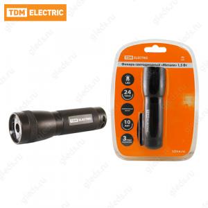 """Фонарь светодиодный """"Металл"""", 1,5 В cветодиод 80 лм/Вт, батареи типа 3*AAA (в комплект не входят) TDM"""