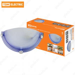 Светильник декоративный СД 1*60 Вт E27 полукруг голубой (в индивид. коробке) TDM