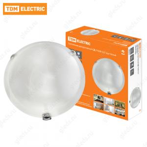 Светильник декоративный СД 2*60 Вт E27 круг белый (в индивид. коробке) TDM