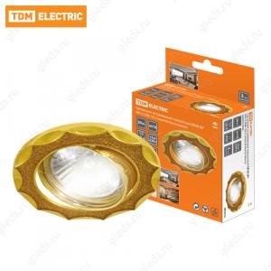Светильник встраиваемый поворотный СВ 02-07 MR16 50Вт G5.3 золотой блеск/золото TDM