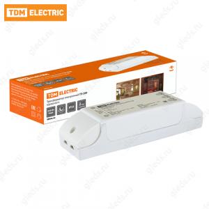 Трансформатор электронный ТЭ-250 220В/12В 80-250Вт TDM