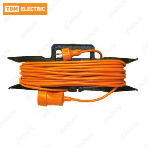 Удлинитель силовой УХз16-101 TDM (на рамке, штепс. гнездо/10м ПВС 3х1,5)