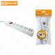 Удлинитель бытовой У05В-USB 5 гнезд, 2USB разъема, 1,5 метра, вык., з/к, ПВС 3х1мм2 16А/250В TDM