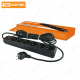 Сетевой фильтр СФ-06В выключатель, 6 гнезд 1,5метра, с заземлением, ПВС 3х1мм2 16А/250В TDM