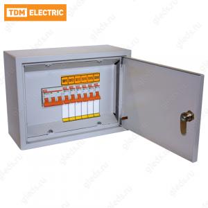 Осветительный щиток с выключателем ОЩВ-6 (63А/16А) 220х300х120мм TDM