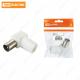 Штекер TV антенный угл. белый без пайки, инд. упаковка TDM